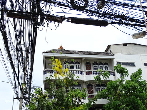 Street Scene with Facade and Cables - Hua Hin - Thailand