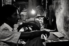 Kolkata (paola ambrosecchia) Tags: bw bnw monochrome night street dark light kolkata asia india man portrait fire biancoenero amazing streetphotography ritratto notte ngc