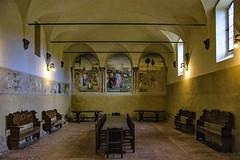 Monastero di Sant'Anna in Camprena , un 'oasi di pace ... (1) (miriam ulivi) Tags: miriamulivi nikond7200 italia toscana monasterodisantannaincamprena refettorio affreschi giovanniantoniobazzidettoilsodoma interno