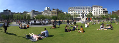 21/52: Piccadilly Gardens, Manchester (nickcoates74) Tags: a6000 ilce6000 manchester sel1650 sony piccadilly piccadillygardens 1650mm pz1650mmf3556 kitlens panorama summer may 52weeks 52 uk affinityphoto