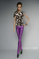 Purple Factor (Culte De Paris) Tags: fr fashion royalty dolls nu face miniature handcrafted skinny pants velvet top hip clothes outfit cocktail erin full speed supermodel convention chicago it integrity toys culte de paris julia leroy jason wu haute couture barbie toy doll model fashionista parisian style spikes jewelry