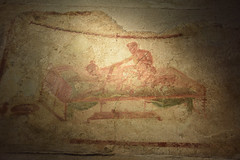 Alternative Position At The Brothel, Pompeii (meg21210) Tags: ancient roman pompeii prostitute prostitution sex brothel naples campania italy italia cosmos tour fall2016 sexact fresco historic customer sexposition