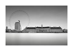 County Hall and London Eye (ianwmarsh) Tags: london thames river countyhall londoneye longexposure tenstop