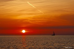 (clauspap) Tags: vela mare tramonto sunset