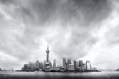 Shanghai (Bill Thoo) Tags: 中国 中华人民共和国 上海市 shanghai china urban landscape travel river pearlriver monochrome blackandwhite bnw bw cityscape sony a7rii ice7rm2 samyang 14mm explore