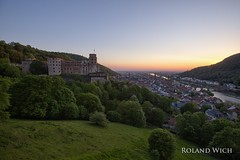 Heidelberg (Rolandito.) Tags: germany deutschland allemagne alemania germania europa europe heidelberg city neckar schloss castle sunset sonnenuntergang abend evening night