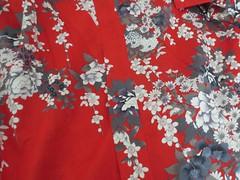 Monday Colours - Kimono 142/365 (Pushapoze (nmp)) Tags: kimono yukata japanesemotif red cotton boughtinsanfrancisco acheteensanfrancisco