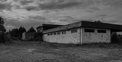 Abandoned hotel (Morten T.) Tags: hotel old abandoned bw blackandwithe black withe tofterøy sund canon canoneos80d canonphoto clouds cloud tamron tamronlens thisphotorocks