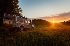 Happy weekend! (Martin Zurek) Tags: climate climatechange 5dsr canon adventure sunrise light color bavaria bayern allgäu rural landscape nature mobility car automotive flickr germany travel traveller world outdoor field landrover land rover defender suv fun