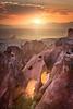 Cappadocia Glow (Guner Gulyesil) Tags: view rock cappadocia sunset holiday nature goreme capadocia national outdoor sunbeam nevsehir turkey red air sun summer colorful balloon beautiful travel famous scenic landscape sky park kapadokya tourism adventure valley nevşehir tr