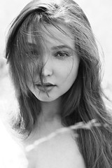 Natali (lucrecia lee) Tags: beauty beautiful bigeyes blackandwhite blonde longhair light wind windblown woman youngwoman portrait pretty sensual subtle seductive ephemeral eyes face fulllips dreamy daydreaming delicate girl gorgeous graceful