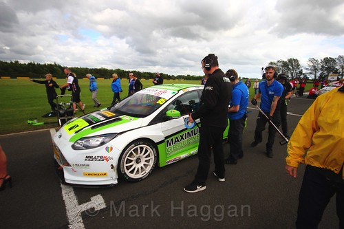 Dennis Strandberg on the BTCC grid at Croft, June 2017