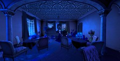 Nocturne the day before (Hollow's End) Tags: second life sl hollows end he rp roleplay role play virtual world social night club hotel urban horror event nocturne alcohol drinking champagne aristocrats noble investigators dark sapphire delight roses