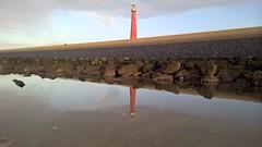 WP_20150208_16_42_45_Pro (Riemsesy) Tags: lighthouse den helder netherlands reflection coast