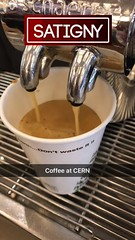REAL COFFEE at CERN (LauraGilchrist4) Tags: coffee cern mozillafoundation cernkcgigabitchallenge quantumphysics particlephysics physics accelerator switzerland france sciencewithoutborders