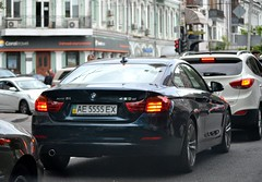 AE5555EX (License plates spotter from Ukraine) Tags: bmw 420 420d 4series f32 licenseplates ukraine kyiv номернізнаки ae5555ex ae україна київ 5555 blue