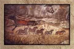 postcard - Lascaux Cave Drawings 3 (Jassy-50) Tags: postcard lascaux cavedrawings cave vézèrevalley vezerevalley vézère vezere perigord dordogne france ancient prehistoric archaeology archeology unescoworldheritagesite unescoworldheritage unesco worldheritagesite worldheritage whs