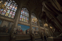 NH0A7086s (michael.soukup) Tags: westminster palace london uk unitedkingdom england houseofcommons thames gothic architecture stainedglass hall royalgallery fresco statue