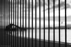 memories of years gone by... (bluechameleon) Tags: sharonwish blackandwhite bluechameleonphotography blur bokeh bw clouds englishbay fence loneliness lonely melancholic memories secondbeach slide sunset swimmingpool vancouver