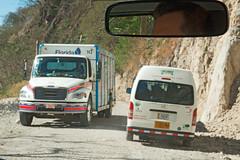 Monteverde Mountain Road traffic (fotofrysk) Tags: monteverdemountainroad road mountains gravel van truck bumpy touristtransport centralamericatrip costarica santaelena monteverde sigma1750mmf28exdcoxhsm nikond7100 201702060559