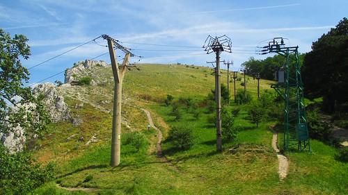 Elektrické vedení nad vyhlídkou