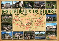 postcard - Loire Chateaux (Jassy-50) Tags: postcard mapcard map loirevalley loirechateaux loire chateau multiview unescoworldheritagesite unescoworldheritage unesco worldheritagesite worldheritage whs
