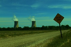 DUH! (SCOTTS WORLD) Tags: adventure architecture america angle june 2016 nuclearpower stacks steam rural road trees sky shadow sunlight summer sign detroit digital detail digitalshot dirtroad green grass clouds country light panasonic pov perspective michigan motown midwest motorcity afternoon bluesky