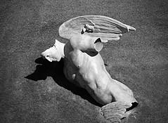 Fallen Angel (Russ Argles) Tags: fallen angel broken italy pisa canon 70d eos bw