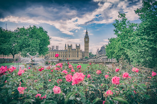 At The Setting Of The Sun 2017 Version (Westminster Spring) by Simon & His Camera