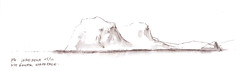 Lord Howe sketch 6 (panda1.grafix) Tags: approved lordhoweisland seascape mountgower