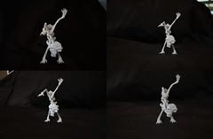 Skeleton by £孤獨· (Nikita Vasiliev) Tags: origami origamiart paper paperart skeleton dance standing bones skull gudu £孤獨·