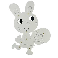 Cute Easter Bunny Painting Decoration Rabbit Cardboard Craft Kids Draw Art Set Drawing Educational Toy Children Paint Games Gift (4) (papermakertoys) Tags: cute easter bunny painting decoration rabbit cardboard craft kids draw art set drawing educational toy children paint games gift