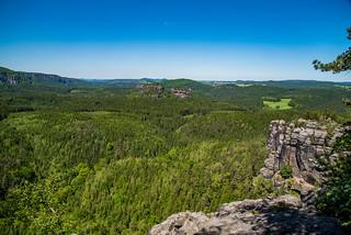 Blick vom Teichstein in den Zschand
