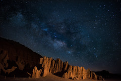 Milky Way over Cathedral Gorge (nbanjogal) Tags: cathedralgorge lincolncounty milkyway