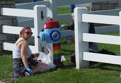 Fire Hydrant Painting (Hear and Their) Tags: fire hydrant plug student general amherst amherstburg art artist teen teenager paint painting