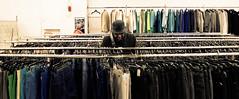Salvation Army Store - New York (Moorebig50) Tags: salvationarmy thriftshop thriftstore ilobsterit clothesrack womanshoppingforclothes newyork