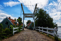 Bridge @ Zuiderwoude (PaulHoo) Tags: fuji fujifilm x70 landscape 2017 bridge sky zuiderwoude holland netherlands architecture building house clouds nik
