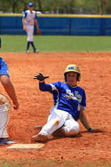 Sliding in to third (taddzilla) Tags: baseball slide clay base cypressbayhighschool helmet safe cleats diamond sports weston florida 2016 allrightsreserved