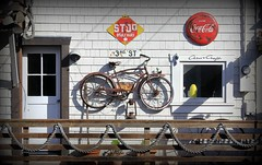 Waterfront (Eduardo Ruiz M.) Tags: bolinas california waterfront bike bycicle fisherman sea harbor wood wooden