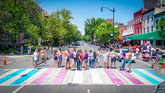 2017.06.10 Painting of #DCRainbowCrosswalks Washington, DC USA 6452