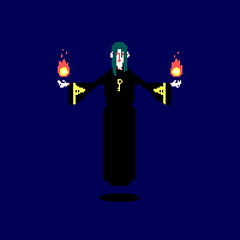 Day 176: Anorak (ChrisKoelsch) Tags: anorak book novel ready player one pixel bit sprite videogame game wizard sorcerer magic fire flame character design retro 8bit 16bit illustrator illustration