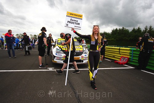 Senna Proctor on the BTCC grid at Croft, June 2017