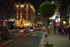 Night of Museums / A night walk on Calea Victoriei among the crowd of people (fdlscrmn) Tags: lights bucharest walk people city crowd street downtown cityscape