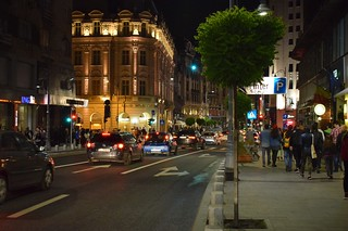 Night of Museums / A night walk on Calea Victoriei among the crowd of people