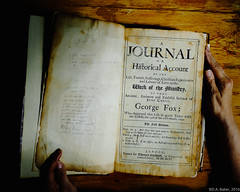 """""""First Edition"""" (D A Baker) Tags: journal historical account george fox religious society friends american america quakers book 1694 vintage original yellowing pages autobiography biography religion quaker persecution"""