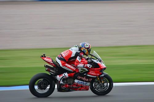 Chaz Davies in World Superbikes at Donington Park, May 2017