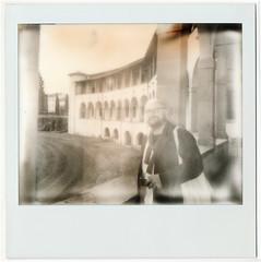ǝlqıssodɯı Andrea (Giorgio Verdiani) Tags: polaroid procam image instant film fotografia istantanea impossible impossibleproject arezzo museum museo archaeological archeologico italy italia blackandwhite biancoenero andrea porch porticato logge