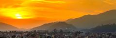 Sunset in panorama (prabindongol) Tags: sunset dusk kathmandu nepal orange sky panorama city landscape