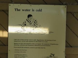 Cold Lake - Cold Lake Provinicia Park - Warning sign