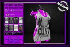 [TD] Cunt Loose Tank Dress (.☣.†ᴏxɪᴄÐᴏɪɪs.☣.) Tags: cunt tank loose cnt mesh maitreya belleza venus fitted product sl secondlife dress funny toxic toxicdolls rude swearwords